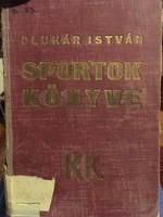 /1935/ Sportok Könyve, szerkesztette; Pluhár István