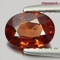 Genuine, 100% natural imperial cognac zircon gemstone 1.01ct (vvs) value: 35,400 HUF!