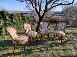 4db neobarokk fotel hosszabb lábakkal