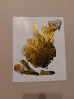 50x70 cm teljes méret, festmény, olaj, kartonon, szignóval, címmel