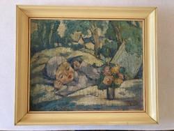Gy. Riba János festménye