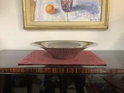 Hatalmas 45 cm-es Alessi, Francesca Amfitheatrof  design gyümölcsöstál exclusive modern lakásokba.