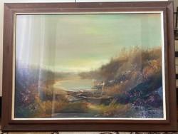 Zombori László - Tóparti Táj című festménye