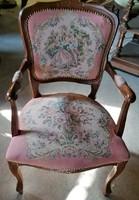 Barokk gobelines kisasszony fotel