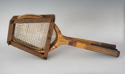 Régi teniszütő szett eredeti keretben