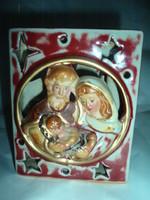 Vintage ,kerámia szent család mécsestartó