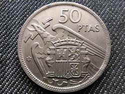 Spanyolország Francisco Franco (1936-1975) 50 Peseta csillagban 59 1957 (id29425)