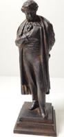 Antik öntöttvas Puskin szobor