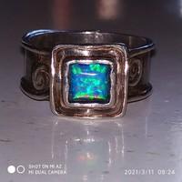 Ezüst kalapált gyűrű (61)
