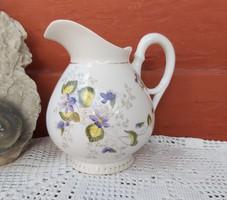 Gyönyörű Ibolyás szecessziós 14 cm magas kanna kancsó ,  szépség porcelán, nosztalgia
