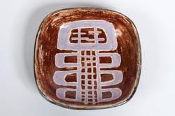 Pál Ferenc jelzett különleges mázas kerámia tál