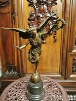 Szabadság arkangyal - bronz szobor műalkotás