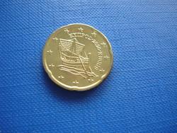 CIPRUS 20 EURO CENT 2020! HAJÓ! ! UNC! RITKA!