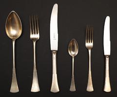 12 személyes ezüst evőeszköz készlet eladó!