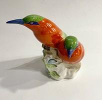 Herendi porcelán egzotikus madárpár