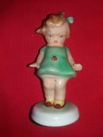Nagyon szép hibátlan Bodrogkeresztúri Katicás kisleány figura a képek szerint