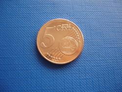CIPRUS 5 EURO CENT 2020 KECSKE! ! UNC! RITKA!