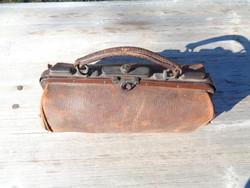 Antik bőr orvosi táska