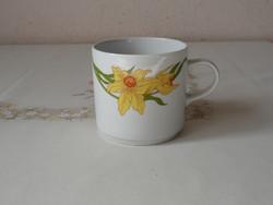 Retro Alföldi porcelán bögre, csésze ( Nárcisz )