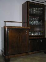 Art Deco étkező garnitúra 2 db tálaló szekrénye dédszülői hagyatékból eladó