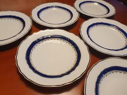 """6 db hollóházi  """"kék rózsa""""  süteményes tányér UTOLJÁRA!"""