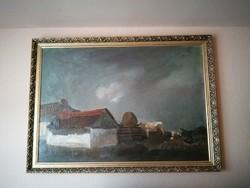 Kossuth és Munkácsy díjas Id. Benedek Jenő hatalmas, eredeti olaj-vászon festménye