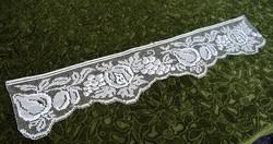 Rececsipke kézimunka csipke polc dísz , drapéria , terítő ruhacsipke 82 x 17 cm gyümölcs