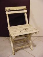 Régi összecsukható gyerek szék