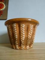 Antik XIX. századi,óbányai kerámia kuglóf sütő forma