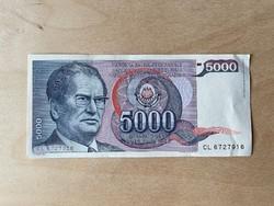 Jugoszláv dinár papírpénz 1985, Tito  - jó minőségben
