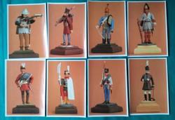 Katonák,viseletek,sorozat képeslap