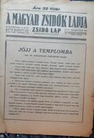 A MAGYAR ZSIDÓK LAPJA  1944  MÁRCIU 30  !  -  JUDAIKA