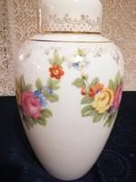 Eladó régi porcelán Rosenthal rózsás urna váza nagy méret 28cm!