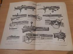 Antik nyomat, fegyver militaria 1906 német - 2