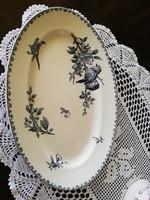 Gyönyörű sarreguemines madaras ovális tál