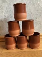Cermer kerámia borospohár / mézes csupor, Terrakotta színben - ár / db