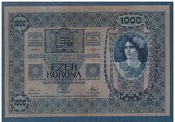 1000 Korona 1902 VF