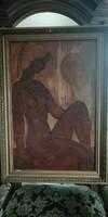 Női akt festmény  Anna Margit jelzéssel