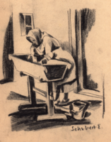 Schubert Ernő (1903-1960): Mosónő.