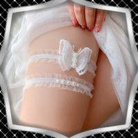 Esküvői, menyasszonyi harisnyakötő szett ES-HK10