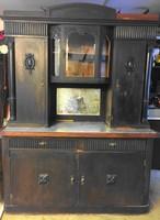 Fekete tálaló szekrény jó állapotban Vintage festés?