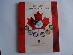 Canada forgalmi sor, 2006. + 1 db 1 uncia ezüst Maple leaf