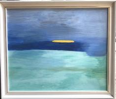 Modern kortárs olaj festmény vászon + keret