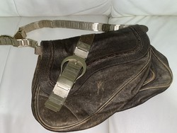CHRISTIAN DIOR LIMITED EDITION GAUCHO DOUBLE SADDLE BAG