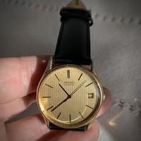 Seiko 1977 vintage men's quartz watch 4312-8009 with genuine leather strap accurate!