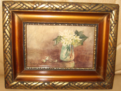 GARANTÁLTAN EREDETI GERHARDT ALAJOSNÉ / 1866- / : FEHÉR VIRÁGOK