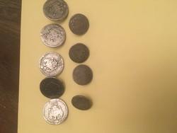 Régi pénzérme gombok egyben