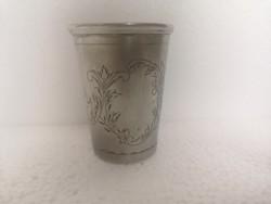 Antik ezüst monarchiás keresztelő pohár  dianás 67gr