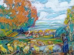 Klie Zoltán -  eredeti festmény, garanciával.