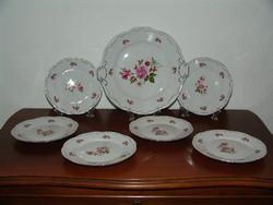 Zsolnay meseszép 6 személyes süteményes készlet - sosem használt, gyöngyörű vitrin állapotban!